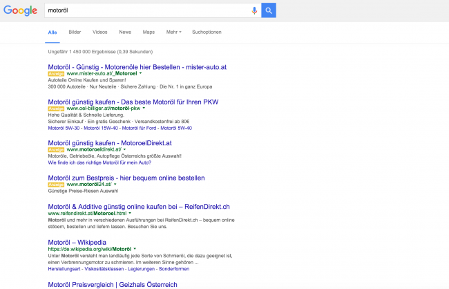 Google AdWords neue SERP